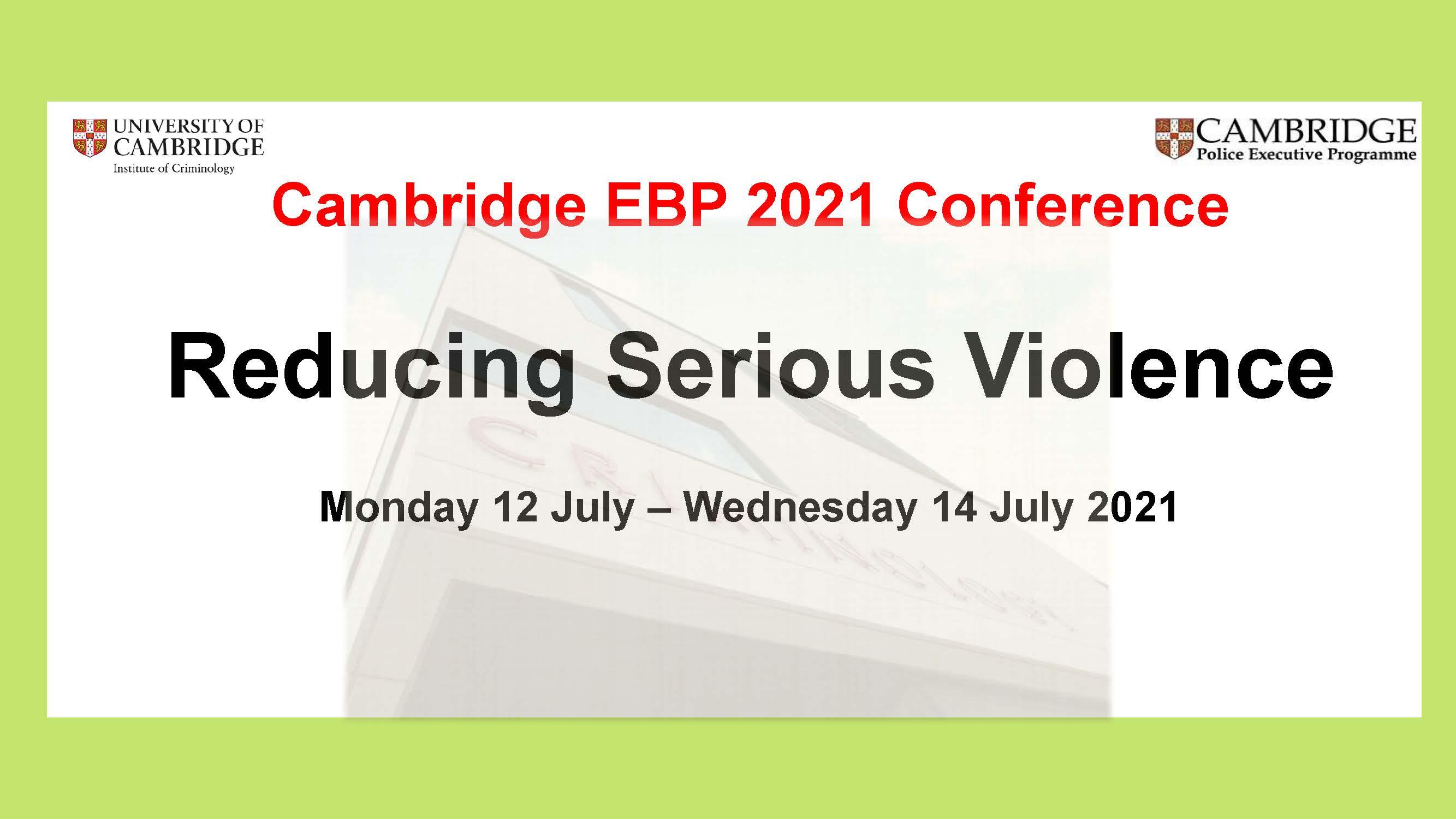 Camb EBP 2021 Conference plain flyer