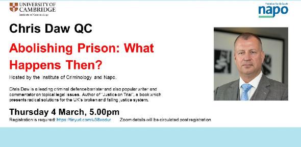Webinar - Abolishing prisons what happens then