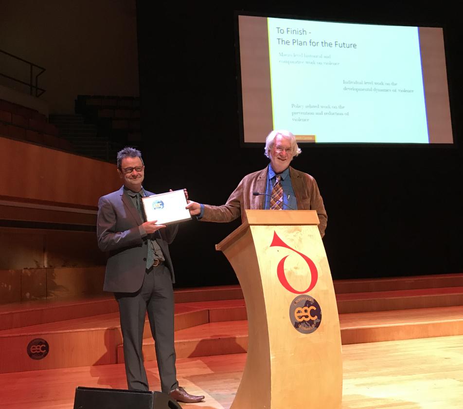 European Criminology  Award for Professor Eisner