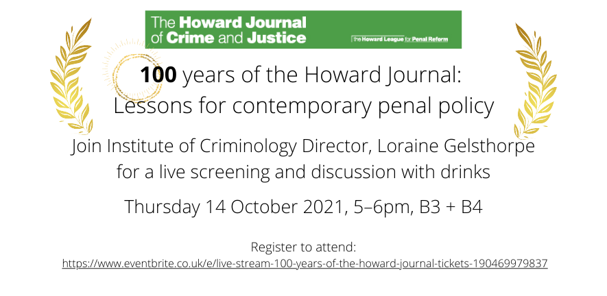Event 100 Years of the Howard Journal