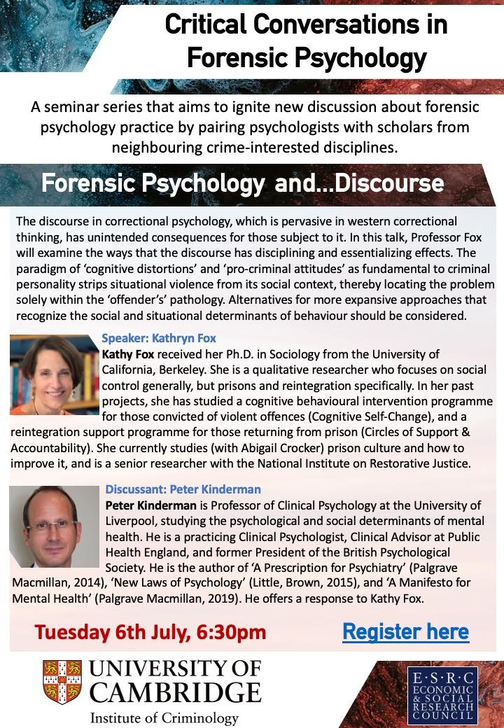 Seminar Flyer Forensic Conversations and Discourse