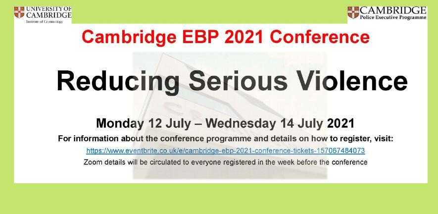 Flier Cambridge EBP 2021 Conference 885x432
