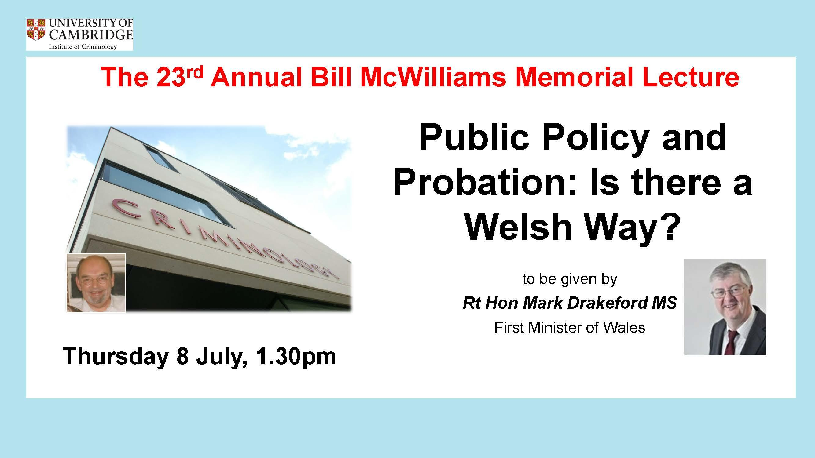 23rd Annual Bill McWilliams Memorial Lecture