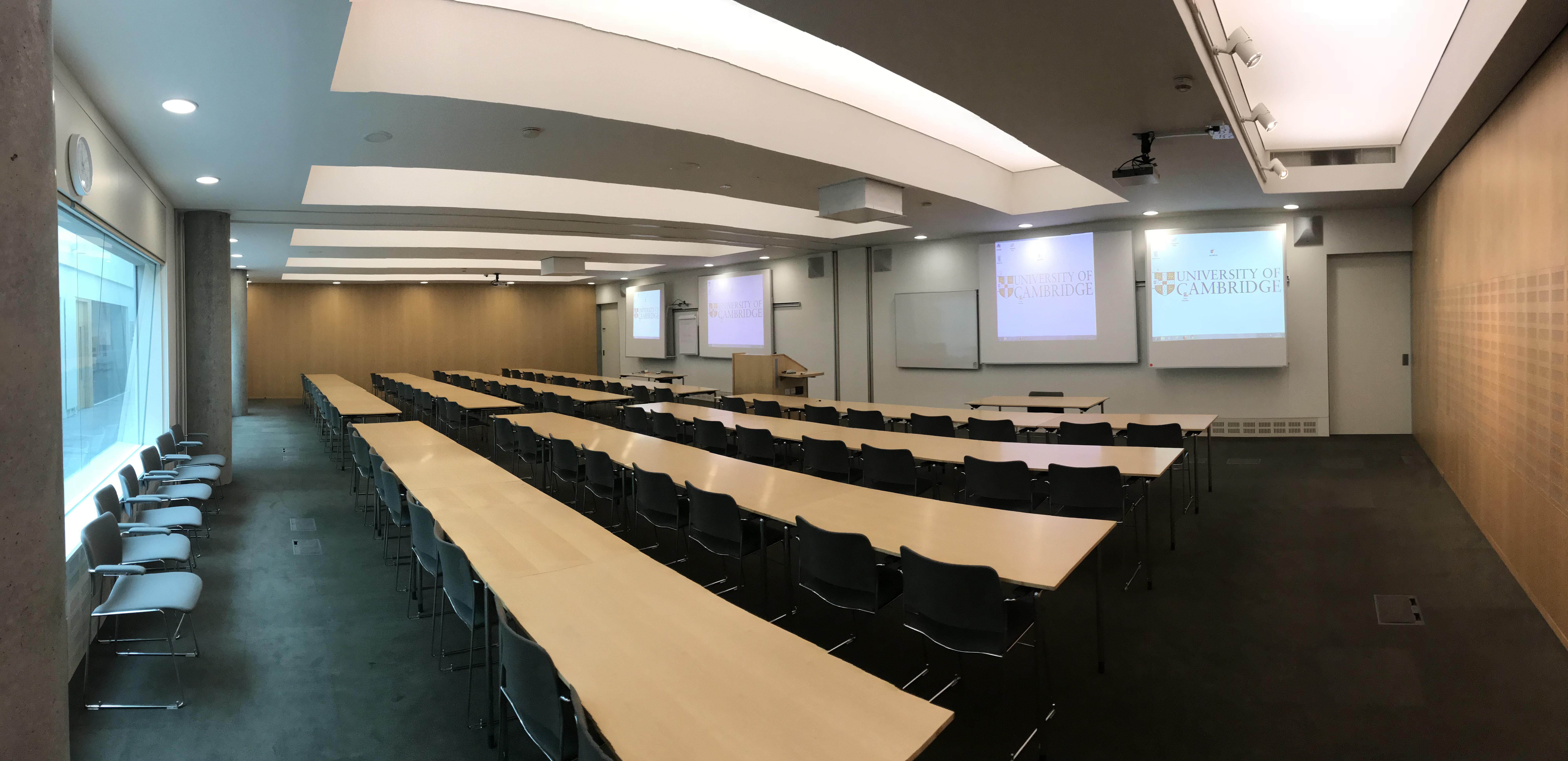 B3 and B4, Basement Seminar Rooms, Combined.
