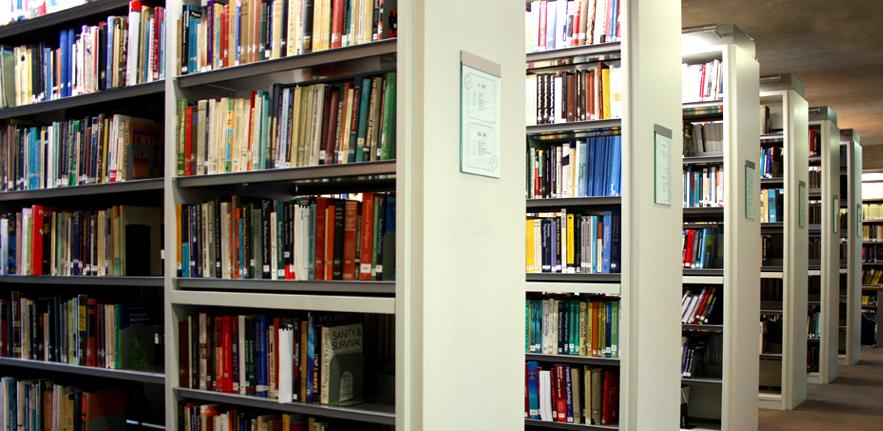 An image of library stacks.